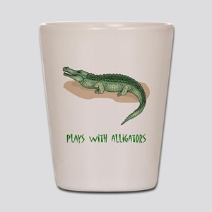Plays With Alligators Shot Glass
