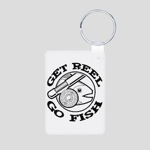 Get Reel Go Fish Aluminum Photo Keychain
