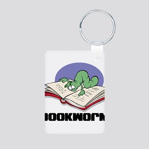 Bookworm Book Lovers Aluminum Photo Keychain