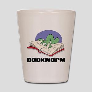 Bookworm Book Lovers Shot Glass