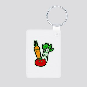 Veggie Friends Aluminum Photo Keychain