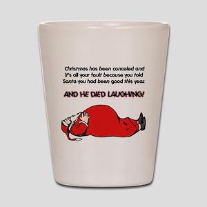 Christmas Is Cancelled Joke Shot Glass