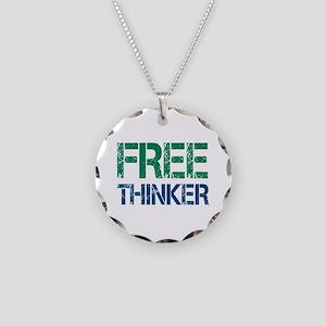 Free Thinker Necklace Circle Charm