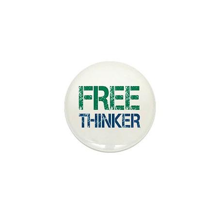 Free Thinker Mini Button