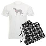 Greyhound Breast Cancer Supp Men's Light Pajamas