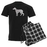 Greyhound Breast Cancer Supp Men's Dark Pajamas