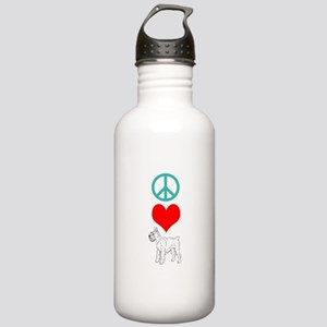 Peace Love Schnauzer Stainless Water Bottle 1.0L
