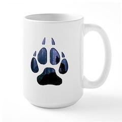 Wolf Paw Cutout Large Mug