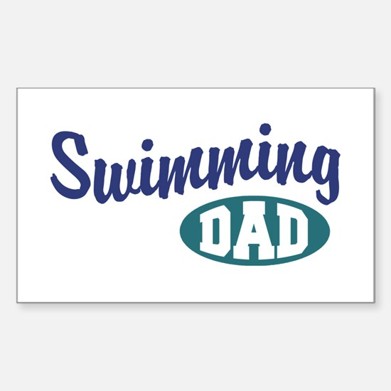 Swimming Dad Sticker (Rectangle)