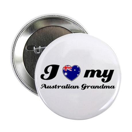 "I love My Australian Grandmother 2.25"" Button (10"