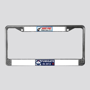 READY AIM FIRE License Plate Frame