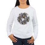 Wolf Head Background Women's Long Sleeve T-Shirt