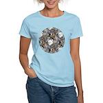 Wolf Head Background Women's Light T-Shirt