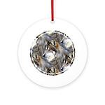 Wolf Head Background Ornament (Round)