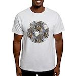 Wolf Head Background Light T-Shirt