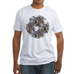 Wolf Head Background Fitted T-Shirt