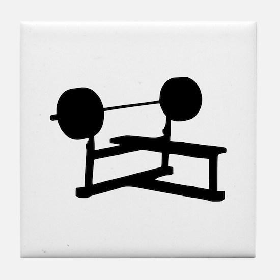 Weightlifting Tile Coaster