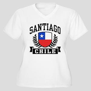 Santiago Chile Women's Plus Size V-Neck T-Shirt