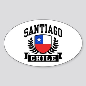 Santiago Chile Sticker (Oval)