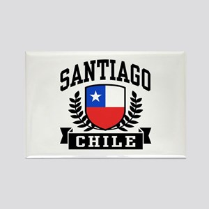 Santiago Chile Rectangle Magnet