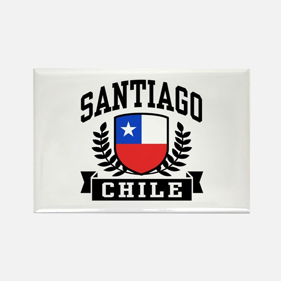 Santiago Chile Rectangle Magnet
