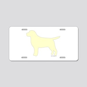 Yellow Lab Silhouette Aluminum License Plate