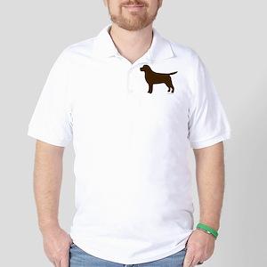 Chocolate Lab Silhouette Golf Shirt