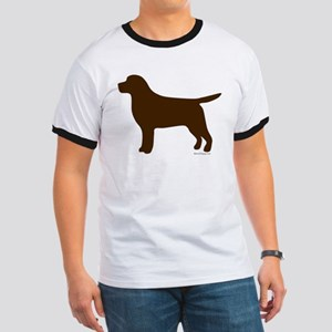 Chocolate Lab Silhouette Ringer T