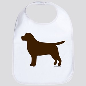 Chocolate Lab Silhouette Bib
