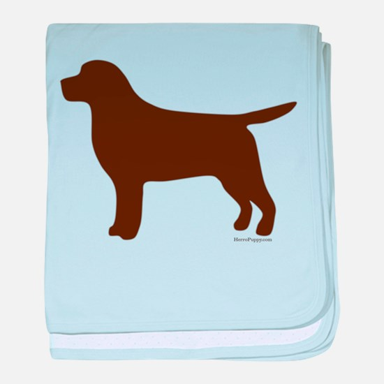 Chocolate Lab Silhouette baby blanket
