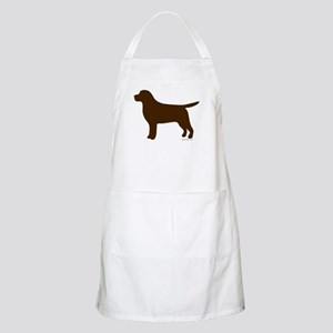 Chocolate Lab Silhouette Apron