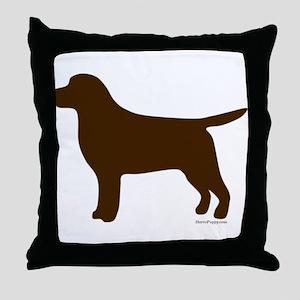 Chocolate Lab Silhouette Throw Pillow