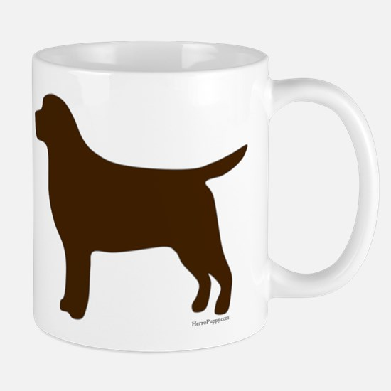 Chocolate Lab Silhouette Mug