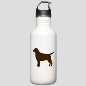 Chocolate Lab Silhouette Stainless Water Bottle 1.