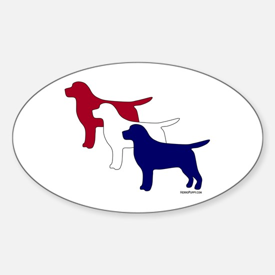 Patriotic Labs Sticker (Oval)