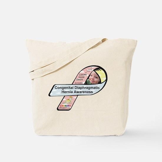 Logan Gage Owen CDH Awareness Ribbon Tote Bag