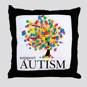 Autism Tree Throw Pillow