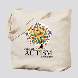 Autism Tree Tote Bag