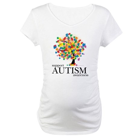 Autism Tree Maternity T-Shirt