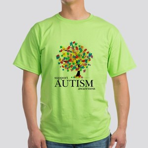 Autism Tree Green T-Shirt