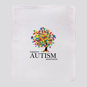 Autism Tree Throw Blanket