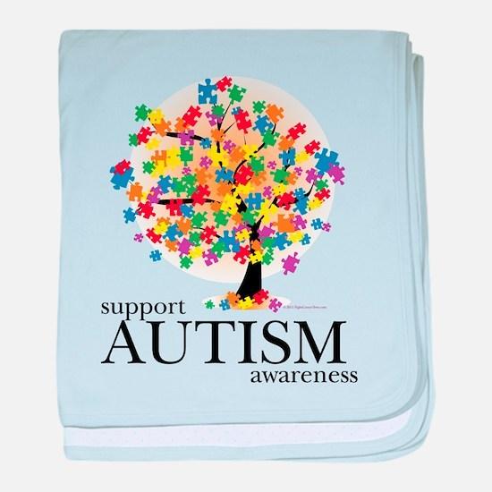 Autism Tree baby blanket