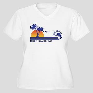 Queensland Australia Women's Plus Size V-Neck T-Sh