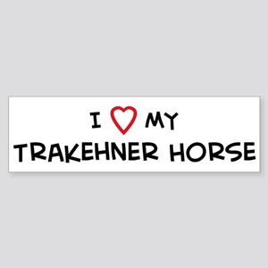 I Love Trakehner Horse Bumper Sticker
