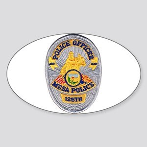 Mesa Police 125th Sticker (Oval)