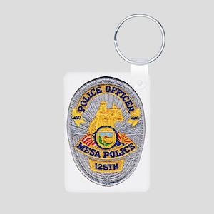 Mesa Police 125th Aluminum Photo Keychain