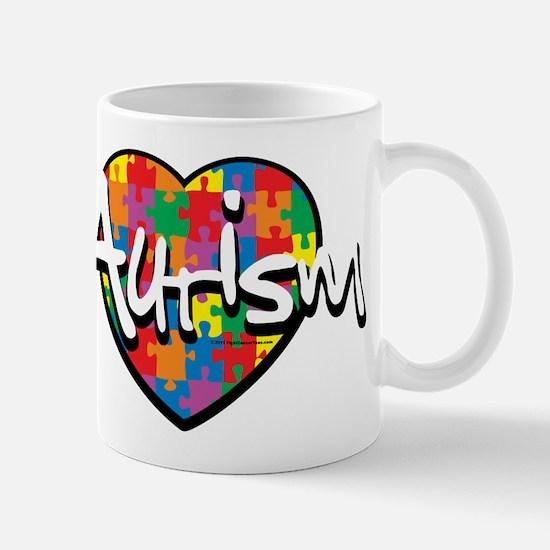 Autism Puzzle Heart Mug