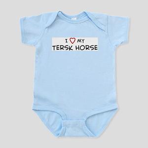 I Love Tersk Horse Infant Creeper
