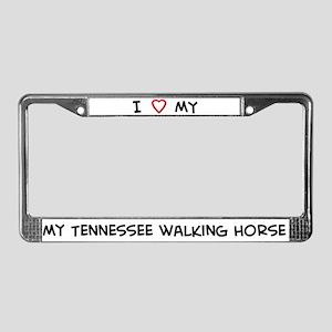 I Love Tennessee walking Hors License Plate Frame
