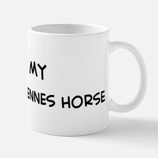 I Love Swedish Ardennes Horse Mug